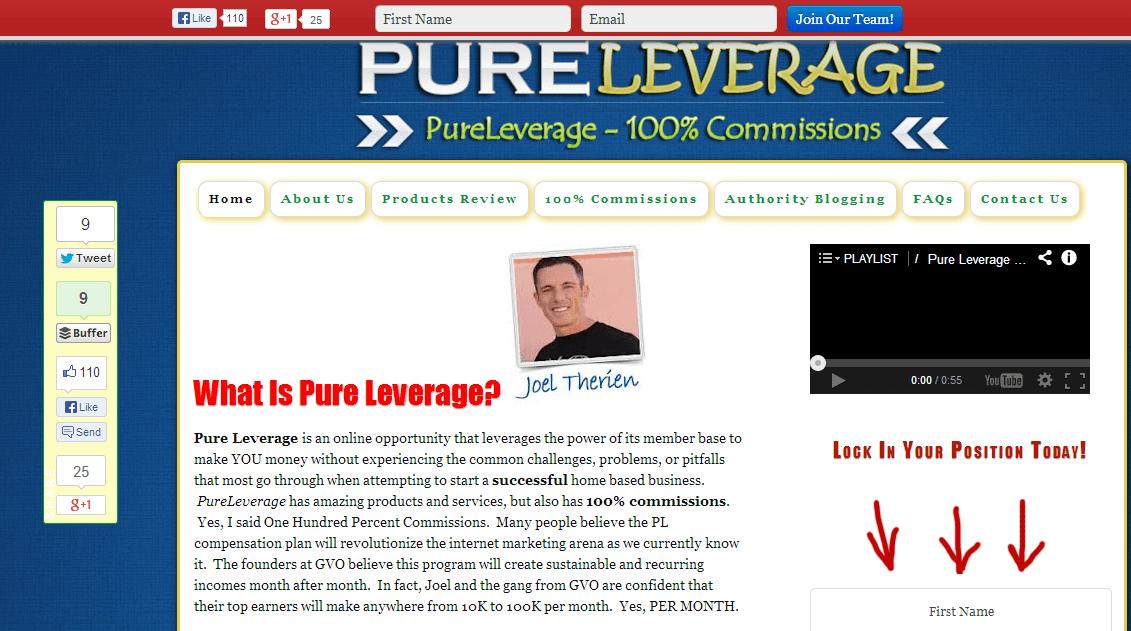 pure leverage homepage