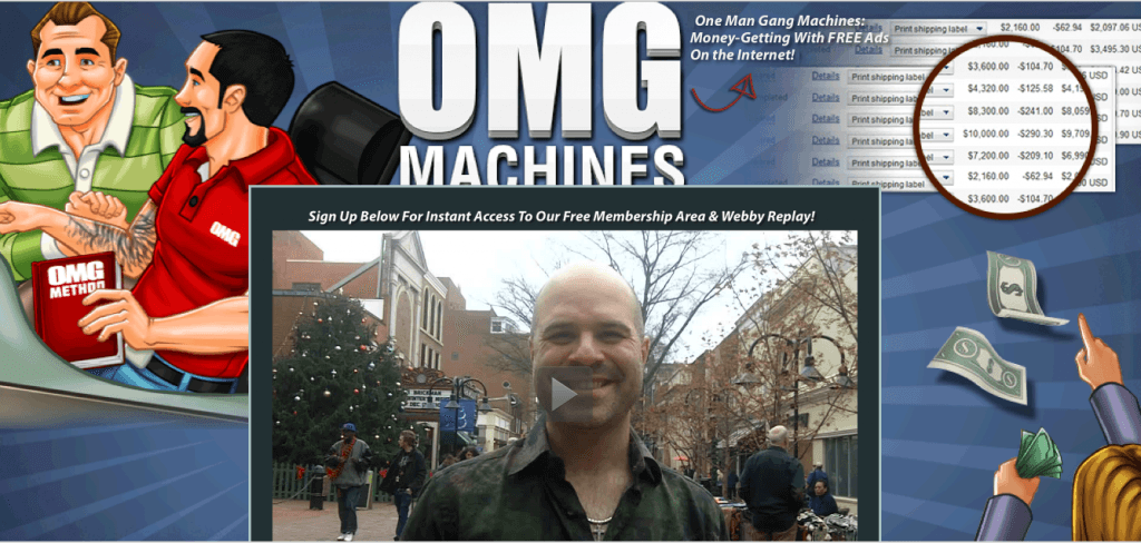 omg machines home page
