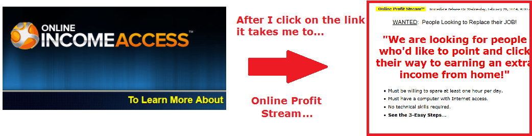 online income access goes to online profit stream