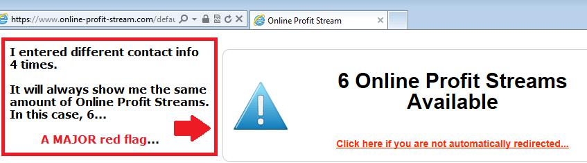online profit stream screenshot