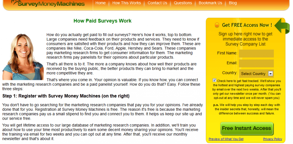 survey money machines home
