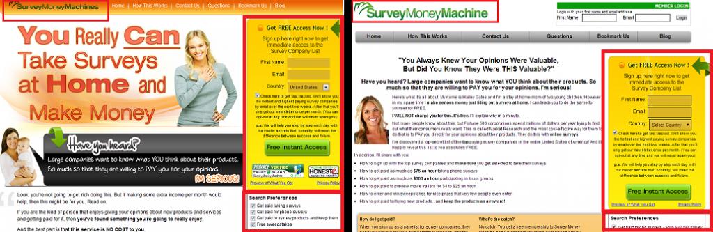 survey money machines site compairson