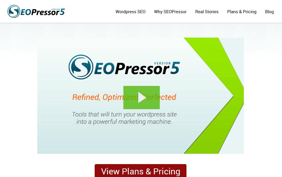 SEOpressor homepage screenshot