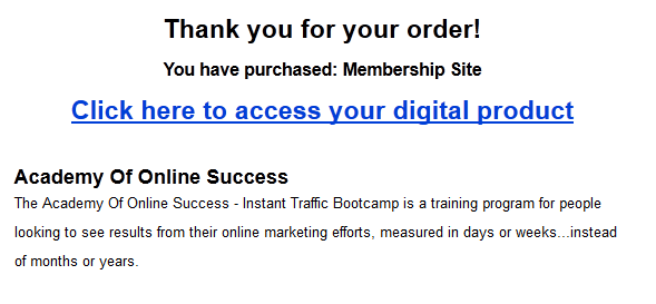 academy of online success proof of purchase