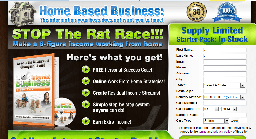 businessinternetcoach homepage screenshot