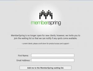 memberspring homepage screenshot