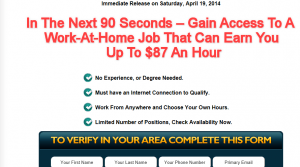 Online Home Careers University homepage screenshot top