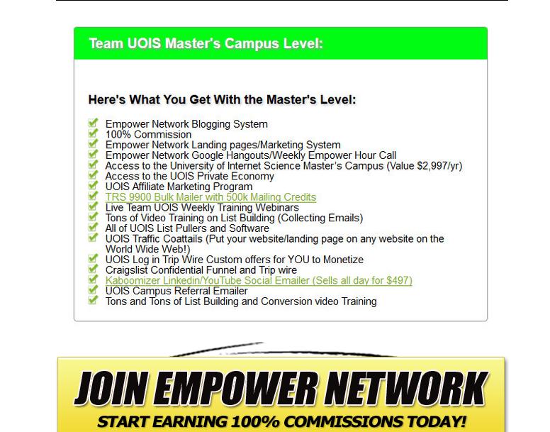 UOIS Empower Network Screenshot