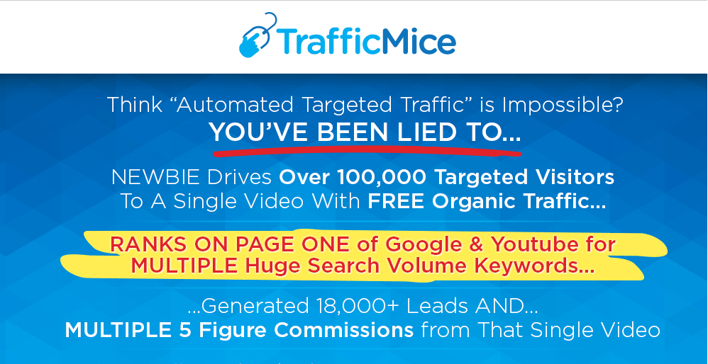 traffic mice homepage screenshot