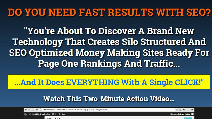P1 Traffic Machine Homepage screenshot