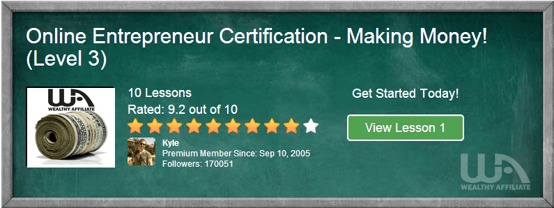WA certification course level 3