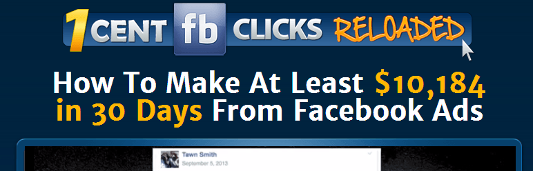 1 cent fb clicks homepage screenshot