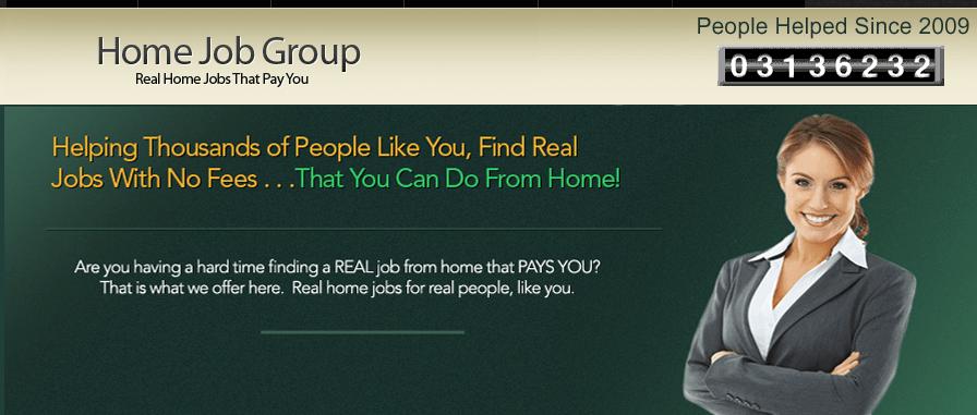 home job group homepage screensho