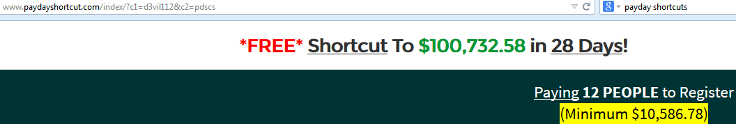 payday shortcut top