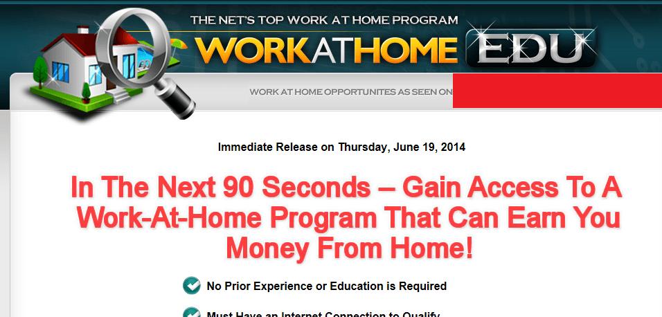 work at home edu