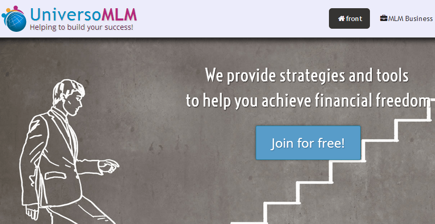 Universo MLM homepage screenshot