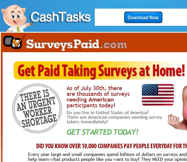 cash tasks surveys