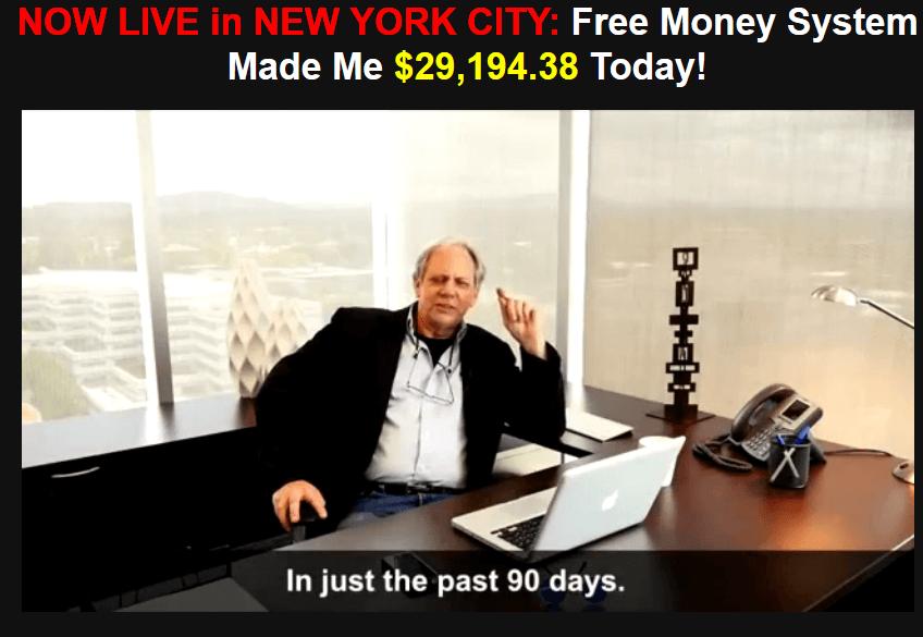 free money system homepage screenshot walter green
