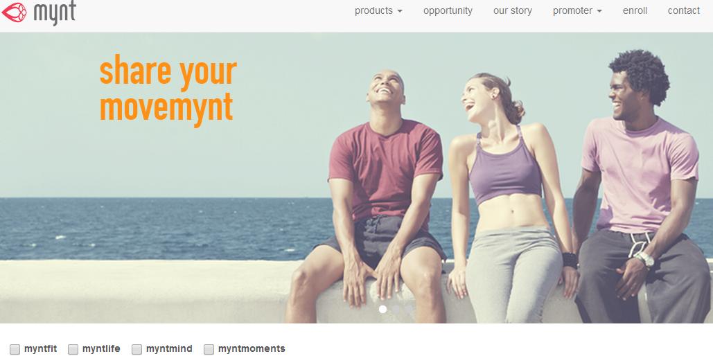 mynt homepage screenshot