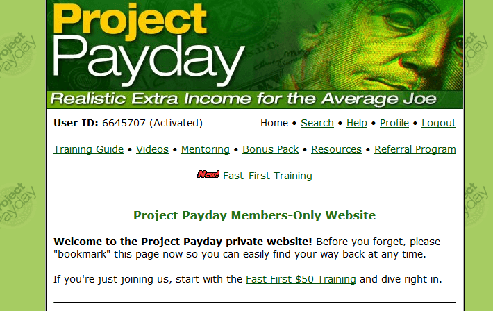 project payday members area