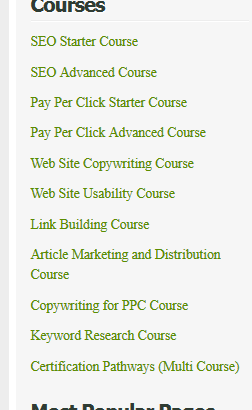 search engine college courses