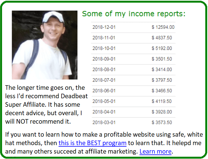 deadbeat super affiliate alternative