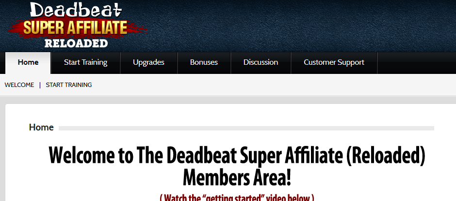 deadbeat super affiliate members area