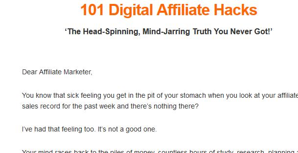 101 digital affiliate hacks review