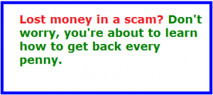 how to get your money back if you've been scammed online