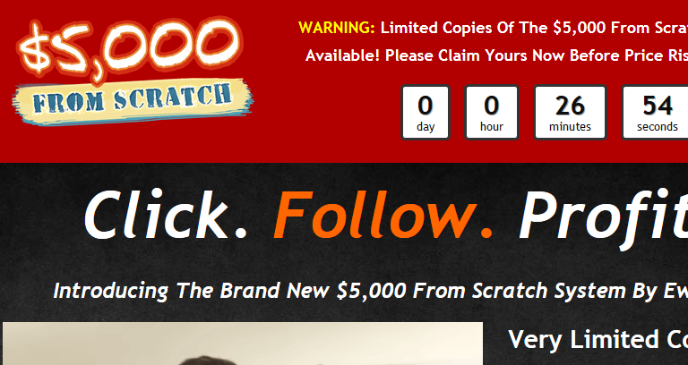 $5,000 from scratch review