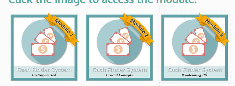 cash finder system training modules