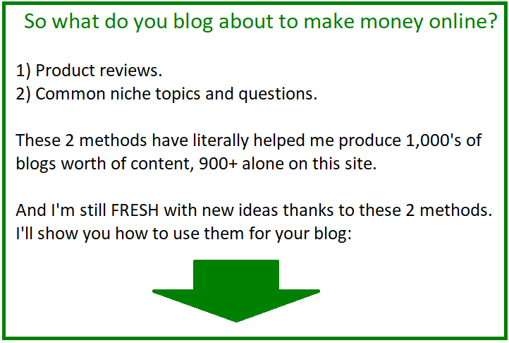 what to blog about to make money online