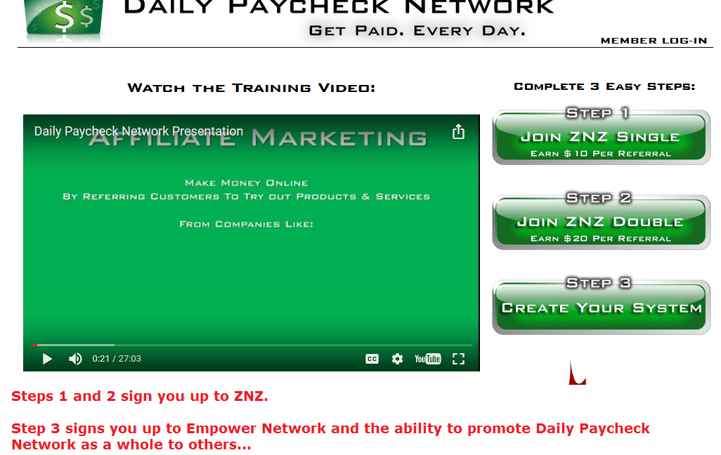 daily paycheck network inside look