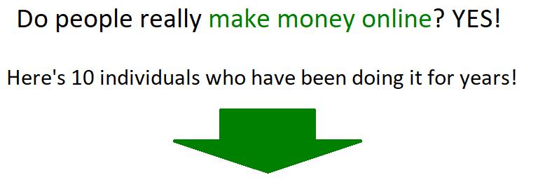 do people make money online
