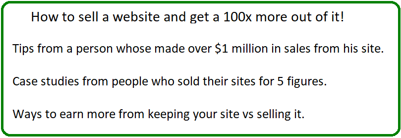 how to sell your website and make more from it