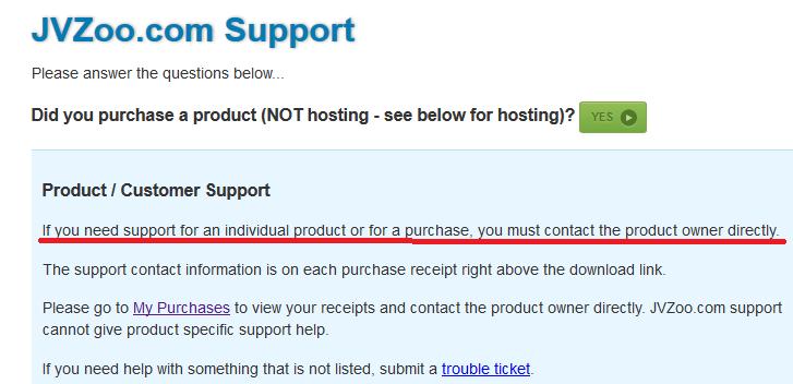 jvzoo support screenshot