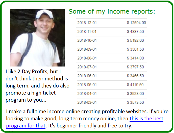 2 day profits alternative