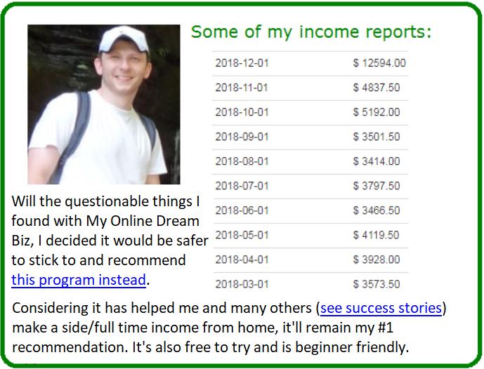 my online dream biz alternative