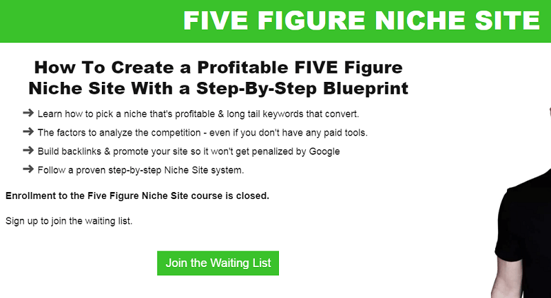 five figure niche site screenshot