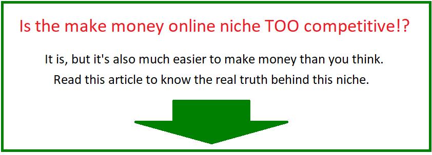 make money online niche competition