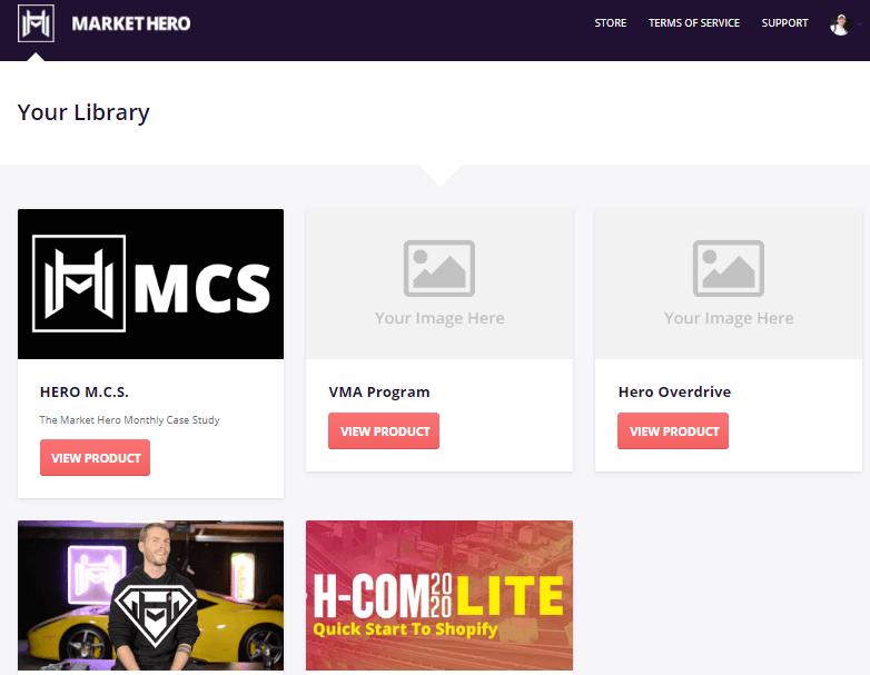 market hero sales academy inside look screenshot