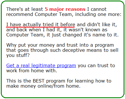 computer team scam