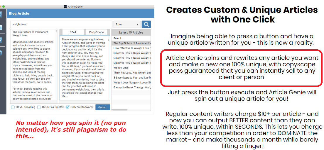 how does article genie work