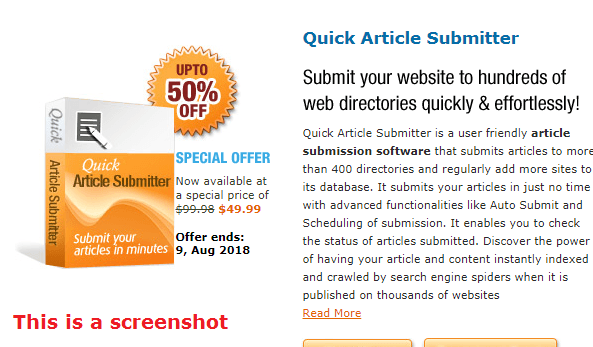 quick article submitter review