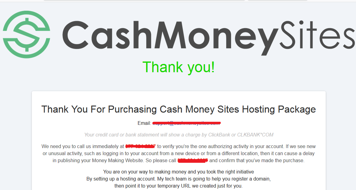 cash money sites scam