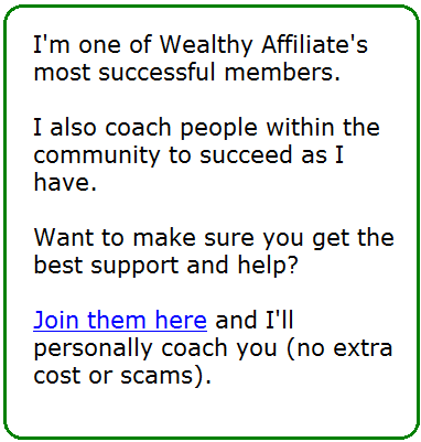my wealthy affiliate success story and offer
