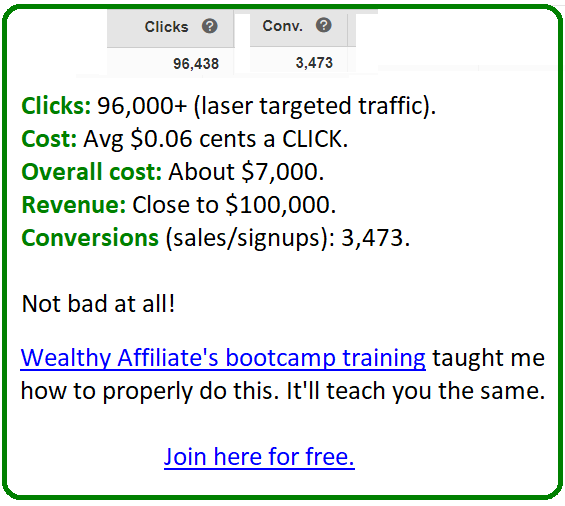 wealthy affiliate bootcamp bing ads training results