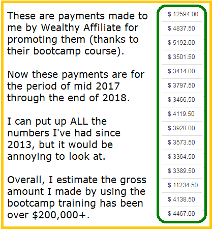 wealthy affiliate bootcamp results