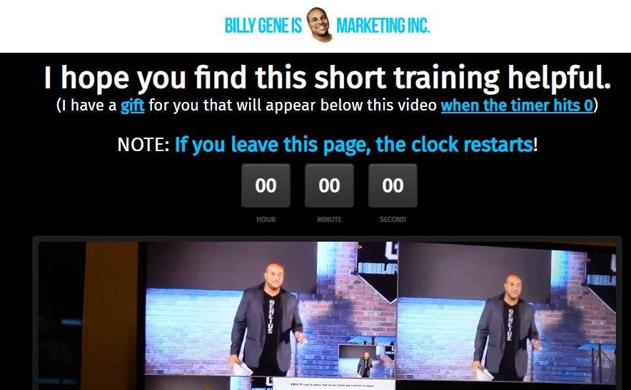 billy gene is marketing webinar