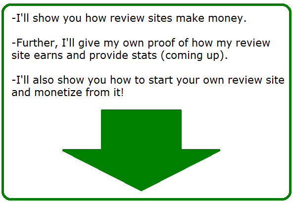 how do review sites make money